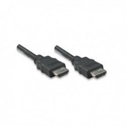 Kabel HDMI Manhattan HDMI HDMI M M 1.4 Ethernet, niklowane złącza, 10m, czarny