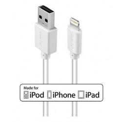 Kabel USB 2.0 ACME CB1021W A M   Lightning MFi M, 1m, biały