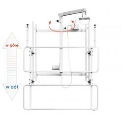 Uchwyt ścienny do tablicy z elektryczną regulacją wysokości i wysięgnikiem do projektora uVIS-EL RW100