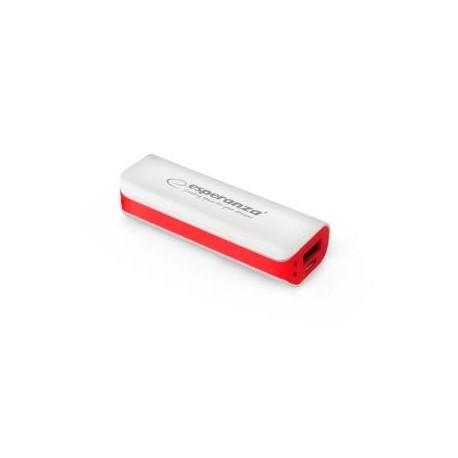 Powerbank Esperanza Joule 2200mAh biało-czerwony