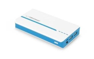 Powerbank Esperanza Atom 11000mAh biało-niebieski