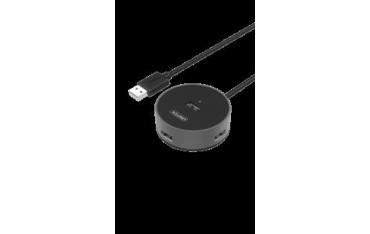 Hub USB Unitek Y-2179B 4x USB 2.0, aluminium