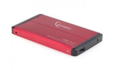 """KIESZEŃ HDD ZEWNĘTRZNA SATA GEMBIRD 2.5"""" USB 3.0 RED"""