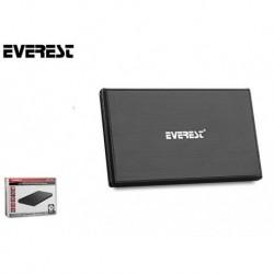 "Obudowa kieszeń HDD zewnętrzna na dysk EVEREST HD3 257 2.5"" USB 3.0 SATA Metal LED Black"