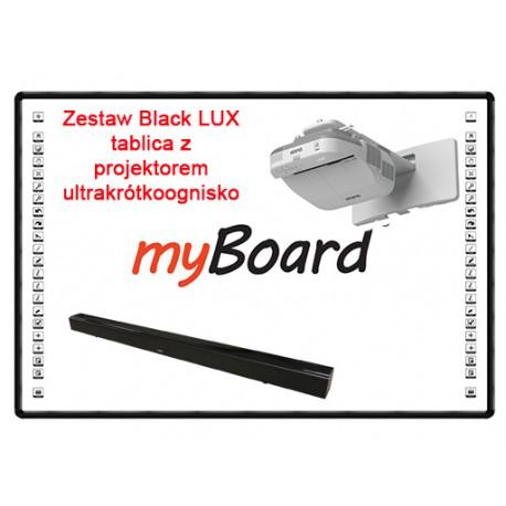 Duet Black LUX zestaw tablica z projektorem ultrakrótkoogniskowym - Aktywna tablica