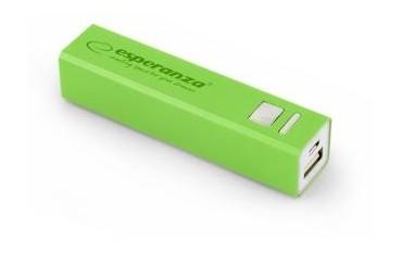Powerbank Esperanza Erg 2400mAh zielony