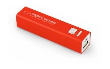 Powerbank Esperanza Erg 2400mAh czerwony