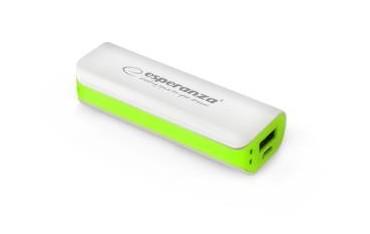 Powerbank Esperanza Joule 2200mAh biało-zielone