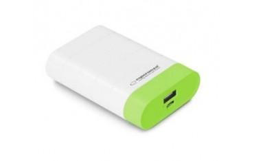 """Powerbank Esperanza """"Gravition"""" 4800mAh biało/zielony"""