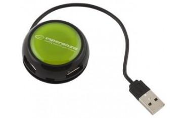 Hub USB 2.0 Esperanza EA135G YOYO 4 Porty Zielony