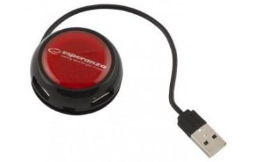 Hub USB 2.0 Esperanza EA135R YOYO 4 Porty Czerwony