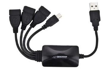 Hub USB 2.0 Esperanza EA114 4 Porty