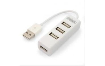 Hub USB Unitek Y-2146 4x USB 2.0 mini biały