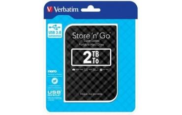 """Dysk zewnętrzny Verbatim 2TB Store 'n' Go 2.5"""" czarny USB 3.1 Gen2"""
