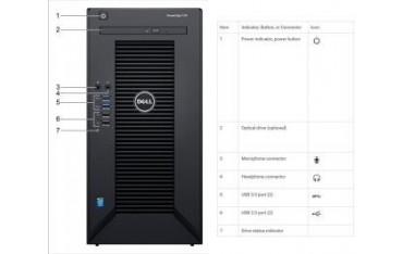 Serwer Dell PowerEdge T30 E3-1225v5/8GB/1TB/DVD-RW/1Y NBD