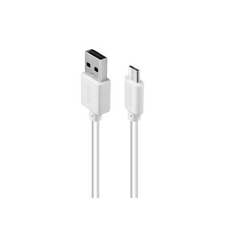 Kabel USB 2.0 Acme CB1011W A/M - micro-USB B/M, 1m, biały