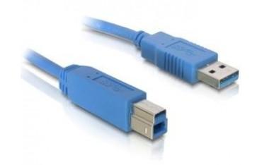 Kabel USB 3.0 Delock USB A(M) - B(M) 1,8m niebieski