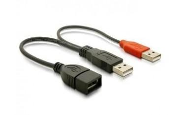 Przedłużacz Delock USB 2.0 2XAM-AF 0,225m
