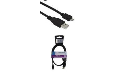 Kabel Micro USB 2.0 A-B M/M Esperanza EB143 1m czarny