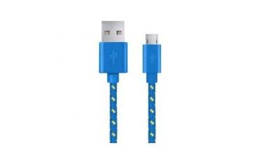 Kabel USB Esperanza Micro USB 2.0 A-B M/M OPLOT 1,0m niebieski