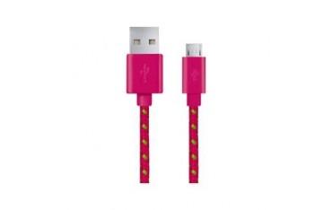 Kabel USB Esperanza Micro USB 2.0 A-B M/M OPLOT 1,0m różowy