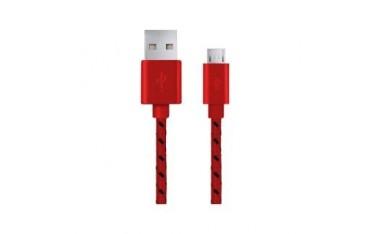 Kabel USB Esperanza Micro USB 2.0 A-B M/M OPLOT 1,0m czerwony