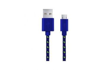 Kabel USB Esperanza Micro USB 2.0 A-B M/M OPLOT 1,0m granatowy
