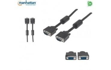 Kabel VGA Manhattan C-SVGAD15 15 M/15 M, 15m, ferryt, czarny
