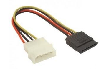 Kabel Gembird CC-SATA-PS SATA zasilający Molex(M)- SATA(F) 0,15m