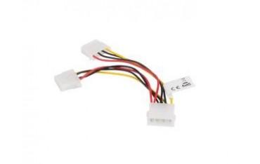 Kabel rozdzielacz zasilania Lanberg 1xHDD/2xHDD 0,15m