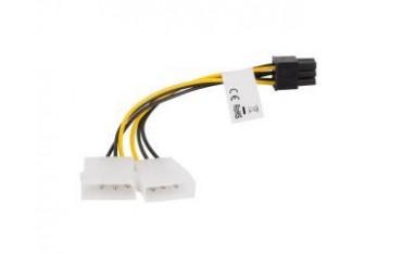 Kabel rozdzielacz zasilania Lanberg 2xHDD/6-pin BTX/PSU