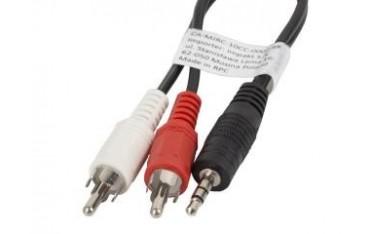 Kabel audio Lanberg stereo minijack - 2x Chinch M/M 1,5m