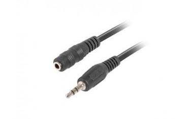 Kabel audio Lanberg stereo minijack - minijack M/F 2m