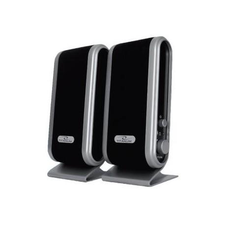 Głośniki 2.0 Titanum Stactto czarno-szare