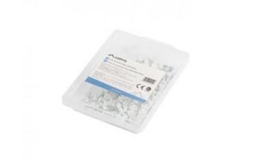 Uchwyt do przewodów Lanberg 3.5mm 100 sztuk białe w pudełku