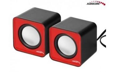 Głośniki Audiocore AC870 R komputerowe 6W USB RedandBlack