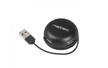 Hub USB Natec 4x USB 2.0 Bumblebee czarny