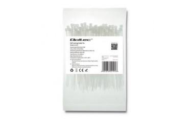 Opaska zaciskowa Qoltec | 2.5*100 | 100szt | nylon UV | Biała