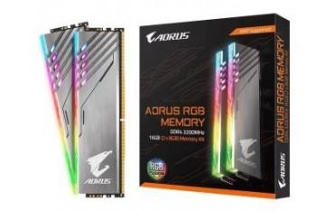 Pamięć DDR4 Gigabyte AORUS RGB 16GB (2x8GB) 3200MHz CL16 1,35V SILVER