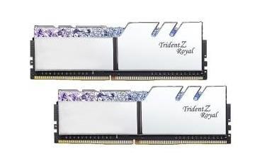 Pamięć DDR4 G.Skill Trident Z Royal Silver RGB 16GB (2x8GB) 3200MHz CL16 1,35V XMP 2.0 Podświetlenie LED