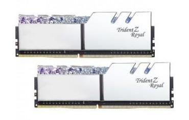 Pamięć DDR4 G.Skill Trident Z Royal Silver RGB 16GB (2x8GB) 3200MHz CL14 1,35V XMP 2.0 Podświetlenie LED