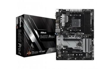 Płyta ASRock B450 Pro4 /AMD B450/DDR4/SATA3/M.2/USB3.0/PCIe3.0/AM4/ATX