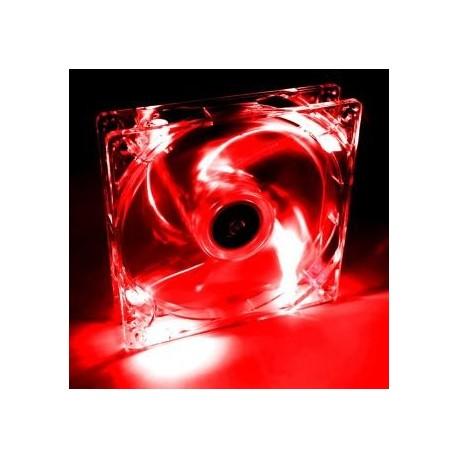 Wentylator systemowy Akyga AW-12A-BR 12cm LED czerwony Molex