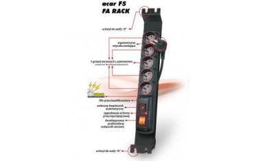 Listwa zasilająca Acar F5 FA RACK 3,0m czarna