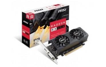 Karta VGA MSI RX 550 4GT LP OC 2GB GDDR5 128bit DVI+HDMI PCIe3.0