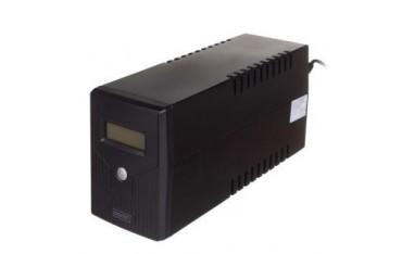 Zasilacz awaryjny UPS Digitus Line-Interactive LCD 600VA/360W 1x12V/7Ah AVR 2xSCHUKO USB RJ11