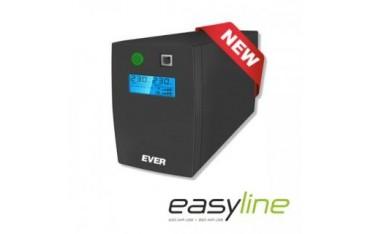 Zasilacz awaryjny UPS Ever Line-Interactive EASYLINE 850 AVR 2xSCH USB RJ-11 LCD Bl