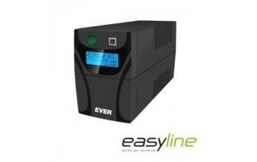 Zasilacz awaryjny UPS Ever Line-Interactive EASYLINE 650 AVR 2xSCH USB RJ-11 LCD Bl