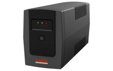 Zasilacz awaryjny UPS Lestar ME-655u Line-Interactive AVR 4xIEC 650VA/390W USB BLACK