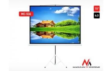 "Ekran projekcyjny Maclean MC-536 72"" 4:3 145x110 na stojaku"